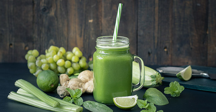 Healthy Green Juice Recipe - Green Power - JuicingWithTania.com